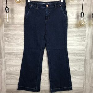 Land's End Mid Rise Trouser Jeans Size 10